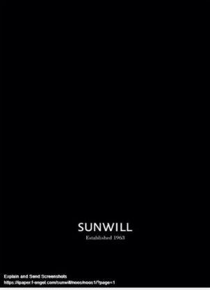 Sunwill katalog