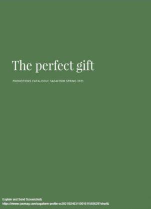 The Perfect Gift , Sagaform Spring 2021